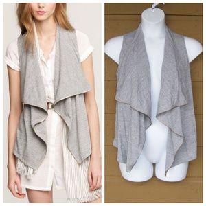 J.Crew Vest, S, Grey, Waterfall/Drape front Zipper